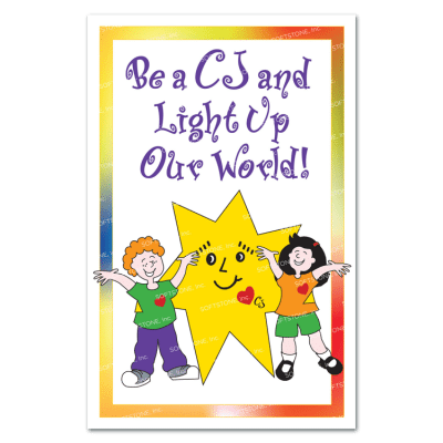 Theme Poster - Be a CJ and Light Up Our World!