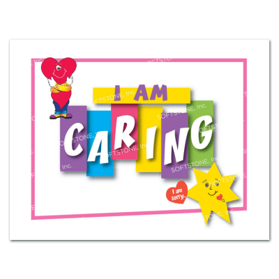 Affirmation Poster, I Am Caring