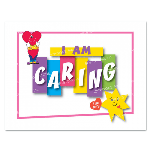 Affirmation Poster, I Am Caring