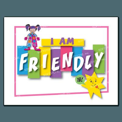Affirmation Poster, I Am Friendly