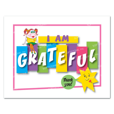 Affirmation Poster, I Am Grateful