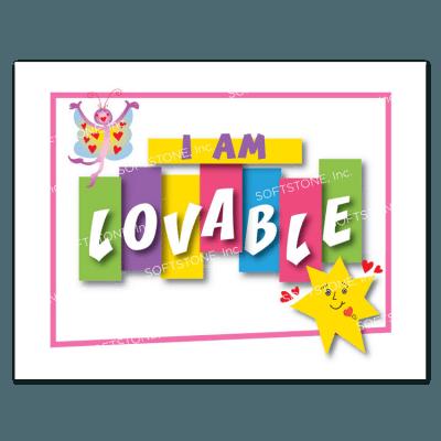 Affirmation Poster, I Am Lovable