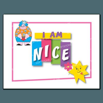 Affirmation Poster, I Am Nice