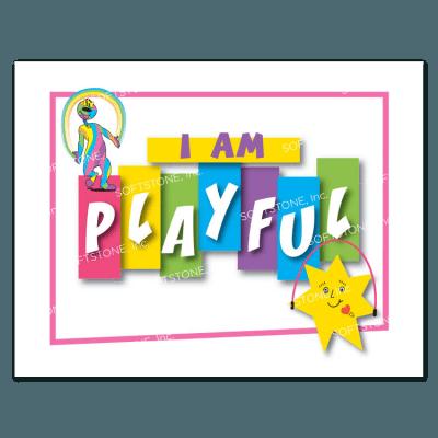Affirmation Poster, I Am Playful