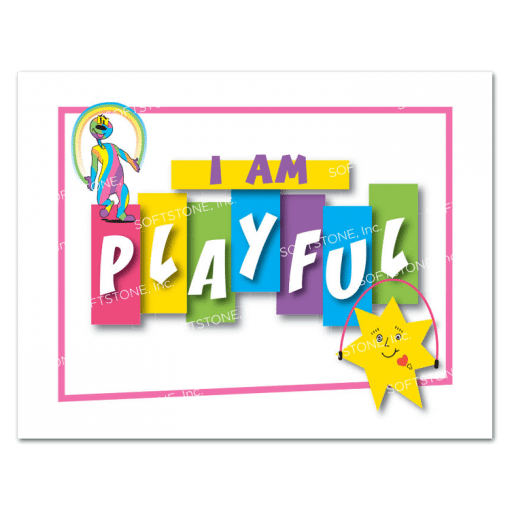 Affirmation Poster, I Am Playful