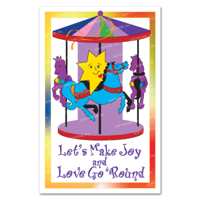 Theme Poster - Let's Make Joy and Love Go 'Round!