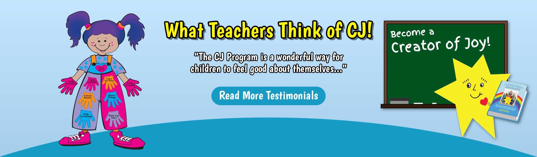 What Teachers Think of CJ - Banner